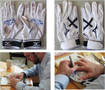 2011 Onyx Preferred Players Collection Ike Davis Autograph Game Used Gloves