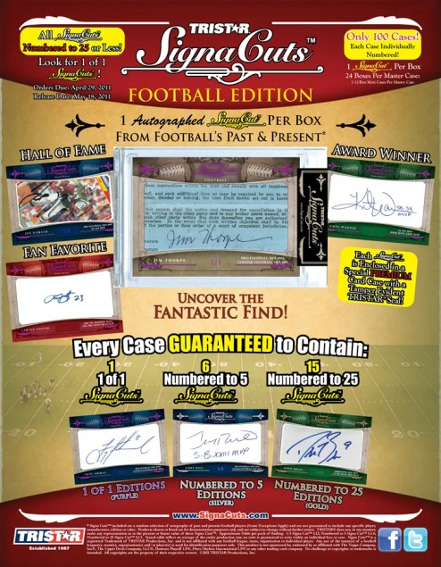 2011 Tri Star Signa Cuts Football Sell Sheet
