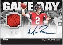 2011 Topps Game Day Autograph Jersey Matt Ryan Card
