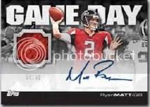 2011 Topps Game Day Autograph Jersey Matt Ryan Card