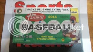 2011 Topps Heritage Retail Blaster Box
