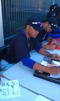 Michael Choice Signing Autographs Oakland A's Top Prospect