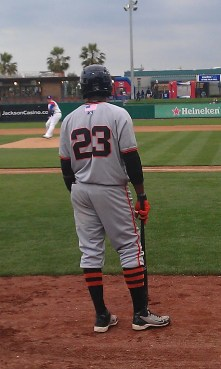 Francisco Peguero #23 San Jose Giants Minor League Picture