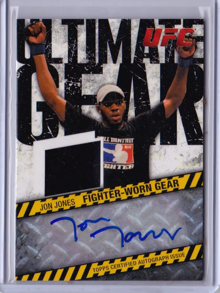 2009Topps UFC Ultimate Gear Autograph Jon Jones Card