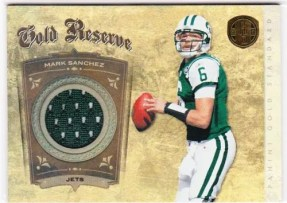 2011 Panini Gold Standard Gold Reserve Mark Sanchez Jersey Card