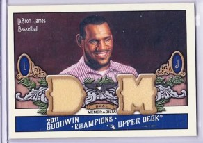 2011 Goodwin Champions LeBron James Memorabilia Card