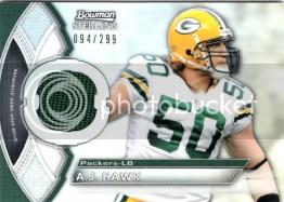 2011 Bowman Sterling A.J. Hawk Jersey Card #/299