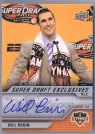 2011 Upper Deck Soccer Will Bruin Super Draft Autograph