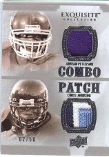 2010 Exquisite Combo Patch Peterson/Johnson