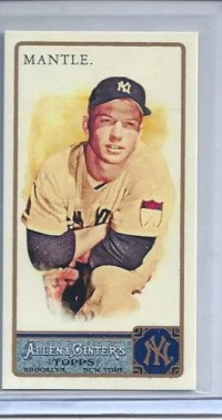 2011 Topps Allen Ginter Mickey Mantle Mini Rip Card