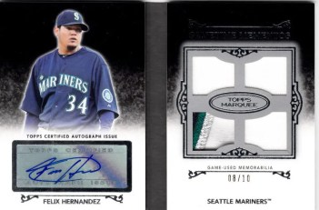 2011 Topps Marquee Felix Hernandex Book Card /10