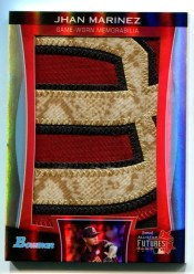 2011 Bowman Draft Jhan Marinez Jumbo Futures Game Patch