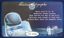 2011 Historic Autographs 1960s Baseball Box