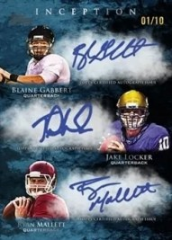 2011 Topps Inception Football Triple Autograph Card