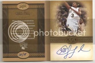 2011 Upper Deck Chris Paul Storybook Card Autograph