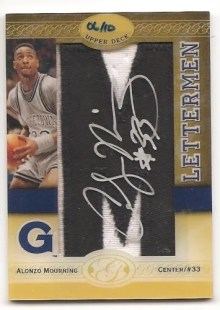 2011 All Time Greats Alonzo Mourning Letterman Autograph