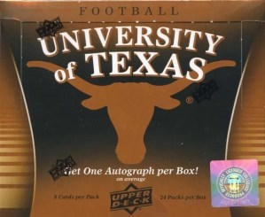 2011 Upper Deck University of Texas Longhorns NCAA Football Box