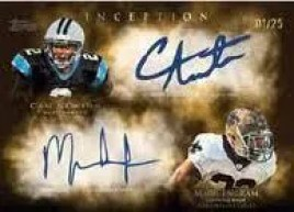 2011 Topps Inception Dual Autograph Mark Ingram Cam Newton