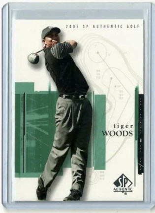 2005 Upper Deck SP Authentic Tiger Woods Golf Card #1