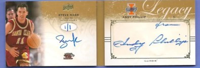 2011 Upper Deck Legacy Steve Nash Book Card 1/1