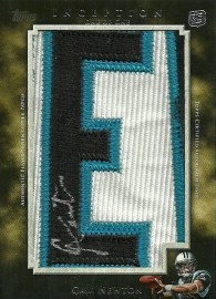 2011 Topps Inception Football Cam Newton Letterman Autograph