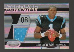 2011 Panini Certified Potential Cam Newton Jersey