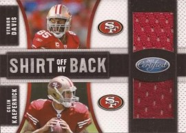 2011 Panini Certified Dual Shirt off My Back 49ers
