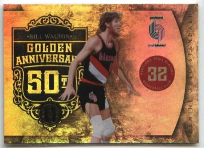 2010-11 Panini Gold Standard Golden Anniversary Bill Walton Insert Card