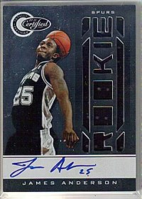 2010-11 Panini Certified James Anderson Autograph RC