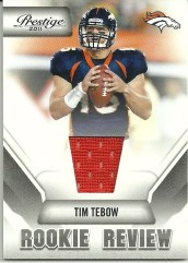 2011 Panini Prestige Tim Tebow Rookie Review Jersey Card