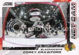 11-12 Panini Score Hockey Corey Crawford Net Cam