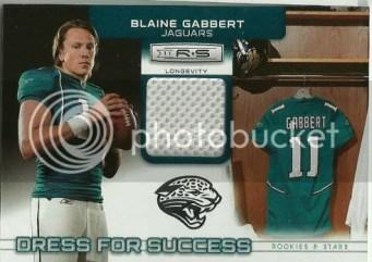 2011 Panini Rookies & Stars Dress For Success Blaine Gabbert Material Card
