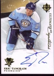 2010-11 Ultimate Collection Eric Tangradi Signature Auto Card