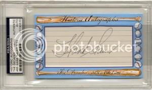 2011 Historic Autographs 1950s Hank Sauer Autograph