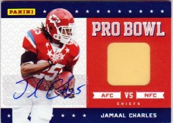 2011 Panini Black Friday Jamaal Charles Pro Bowl Pylon Auto