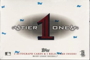 2011 Topps Tier One 1 Baseball Box