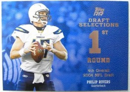 2011 Topps Rising Rookie Philip Rivers Draft Selections