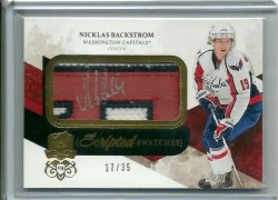 10-11 The Cup Nicklas Backstrom Scripted Swatches Autograph