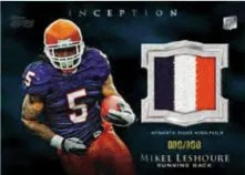 2011 Topps Inception Football Mikel Leshoure Relic Jersey Patch