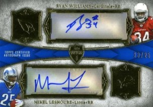 2011 Topps Supreme Dual Autograph Ryan Williams - Mikel LeShoure Card