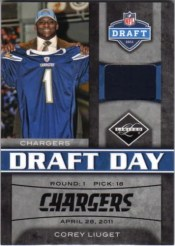 2011 Panini Limited Corey Liuget Draft Day Jersey