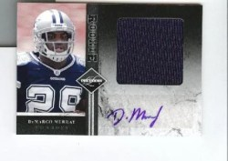 2011 Panini Limited DeMarcco Murray Jumbo Jersey Auto