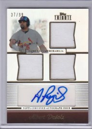 2011 Topps Tribute Albert Pujols Relic Autograph