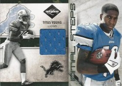 2011 Panini Limited Titus Young Jersey Inital Steps