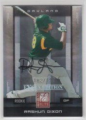 2008 Donruss Elite Rashun Dixon Autograph RC Rookie Card