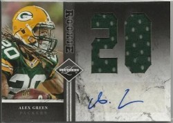 2011 Panini Limited Alex Green Autograph Jersey