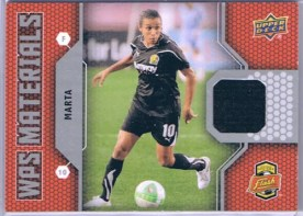 2011 UD Soccer WPS Materials Marta Jersey Card