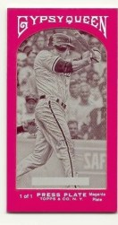 2011 Topps Gypsy Queen Chase Utley Magenta Printing Plate