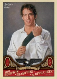 2011 Goodwin Champions Joe Sakic Base Card