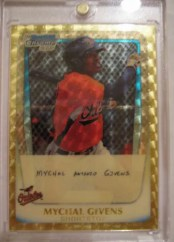 2011 Bowman Chrome Mychal Givens Superfractor Refractror 1/1
